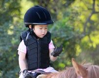 Mädchen und Pferd Lizenzfreie Stockfotos