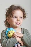 Mädchen und Puppe Stockfoto