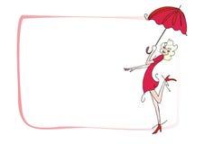 Mädchen und Regenschirm Stockfoto