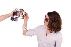 Mädchen und Sonnenbrille Lizenzfreies Stockbild