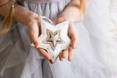 Mädchen und Stern stockfoto