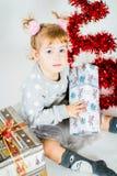 Mädchen und Winter Stockfotografie