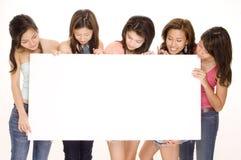 Mädchen und Zeichen #2 Lizenzfreies Stockfoto