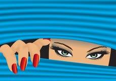 Mädchen versteckt Stockbilder