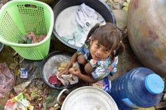 Mädchen vom Khmer-Dorf Lizenzfreies Stockfoto