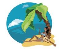 Mädchen von der Insel Vektor Abbildung