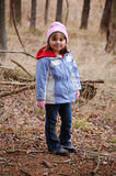 Mädchen-Wandern Stockfotografie