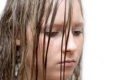 Mädchen weinen Stockfoto