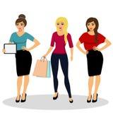 Mädchen werden auf weißem Hintergrund lokalisiert Lizenzfreie Stockfotografie