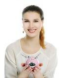 Mädchen Whit-Geldkasten Lizenzfreie Stockbilder