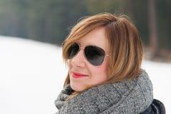 Mädchen-Winter-Porträt Stockfoto
