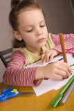 Mädchen-Zeichnung Stockfotos