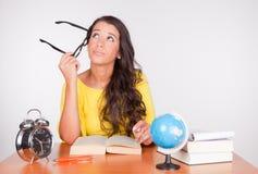 Mädchen zurück zu Schule stockfoto