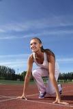 Mädchenanfangslack-läufer Lizenzfreie Stockbilder