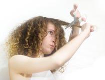Mädchenausschnitthaar Stockfoto