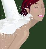 Mädchenbadekurort Stockfoto
