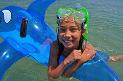 Mädchenbaden Lizenzfreie Stockfotografie