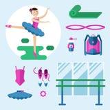 Mädchenballerina Stockfoto