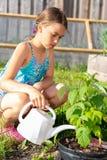 Mädchenbewässerungsanlagen Lizenzfreie Stockfotos