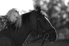 Mädchencowboy Lizenzfreie Stockfotos
