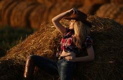 Mädchencowboy Lizenzfreies Stockfoto