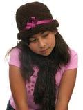 Mädchendenken lizenzfreie stockfotografie