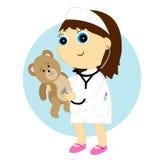 Mädchendoktor Lizenzfreies Stockfoto