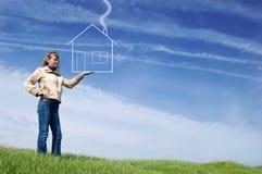 Mädcheneinfluß das Haus Lizenzfreies Stockfoto