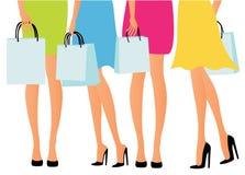 Mädcheneinkauf Stockbilder