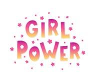 Mädchenenergiebeschriftung lizenzfreie abbildung