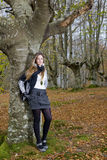 Mädchenfallwald Stockfotografie