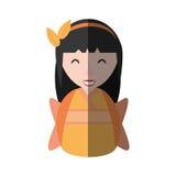 Mädchengeishakimono-Diademschatten Lizenzfreies Stockbild