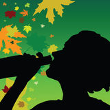 Mädchengetränkalkohol-Farbvektor Stockfotografie