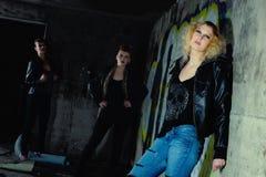 Mädchengruppe Stockfotos