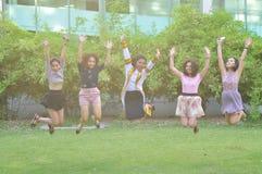 Mädchengruppe Stockbild
