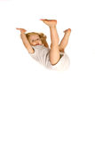Mädchenhängen gedreht Stockfotografie