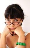 Mädchenhören Lizenzfreie Stockbilder