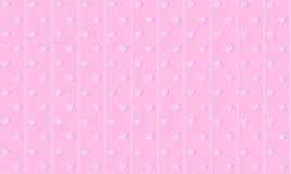 M?dchenhafter rosa netter Hintergrund mit Linien und kleinen Herzen Hintergrund f?r Kinderpartei lizenzfreie abbildung