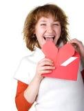 Mädchenholding loveletter Lizenzfreies Stockbild