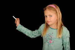 Mädchenholdingstück Kreide Lizenzfreie Stockbilder