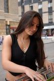 Mädchenkaufensätze. Stockfoto
