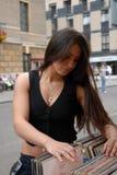 Mädchenkaufensätze. Stockfotos