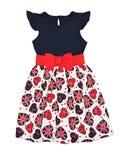 Mädchenkleid lokalisiert. Lizenzfreies Stockfoto