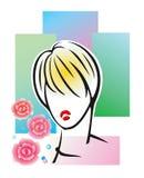 Mädchenkopf Lizenzfreie Stockbilder