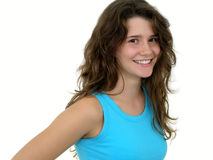 Mädchenlächeln Lizenzfreie Stockbilder
