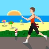 Mädchenlack-läufer auf der Straße Lizenzfreie Stockbilder