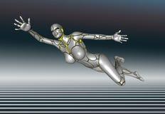 mädchenlebensstil-Plakataufkleber des Roboter-3D Super Lizenzfreie Stockfotos