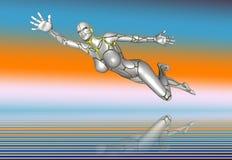 mädchenlebensstil-Plakataufkleber des Roboter-3D Super Stockbilder