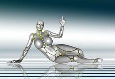 mädchenlebensstil-Plakataufkleber des Roboter-3D Super Lizenzfreie Stockbilder