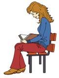 Mädchenlesung Stockfotografie